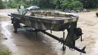 1972 Ouachita bass boat